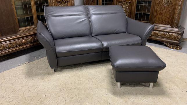 Фирменный кожаный диван пуфи Диван шкіряний Диваны кожаные