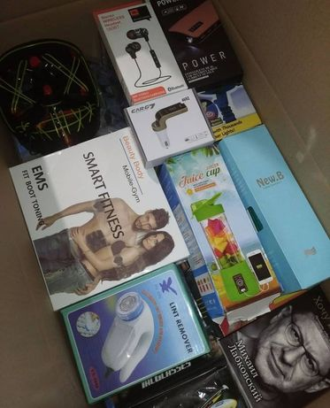 Коробка товара ящик с товаром бокс заработок на дому опт дроп наушники