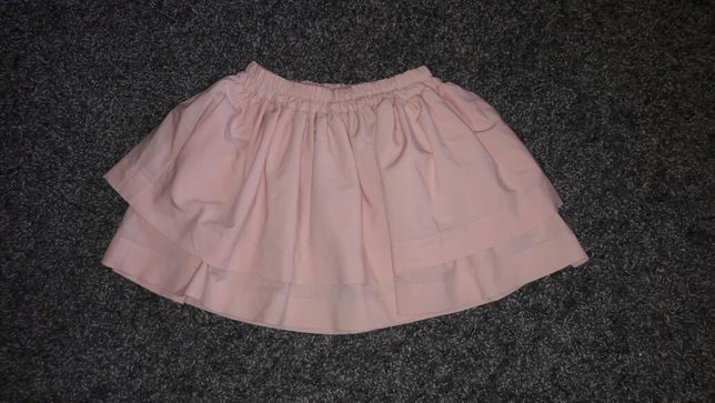 Spódnica pudrowy róż lalu roz 36 kieszonki