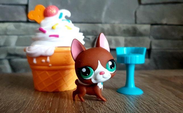 Littlest Pet Shop LPS figurka pieska+akcesoria
