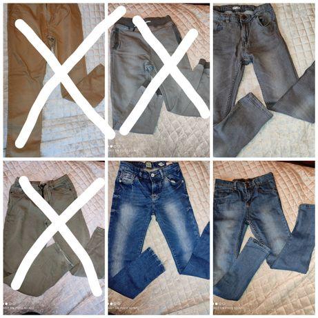 3szt. spodnie jeans  152