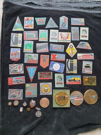 Plakiety, odznaki z rajdów samochodowych, okolicznosciowe, kolekcja
