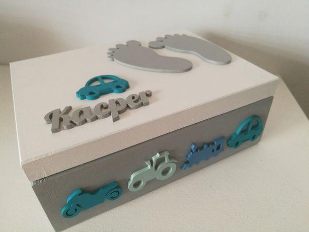 Pudełko na chrzciny roczek urodziny dla dziecka.