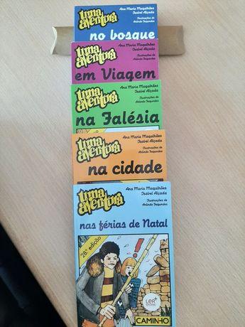 """5 livros """"Uma aventura..."""""""