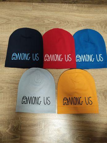 Трикотажные шапки Among US для мальчиков 48-52 размер