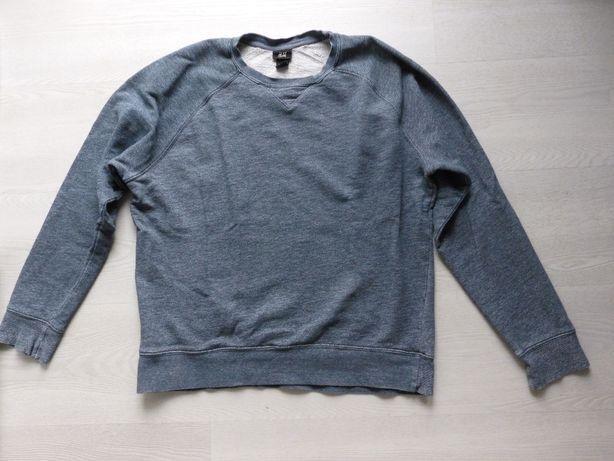 Męska bluza H&M melanż L szaro niebieska