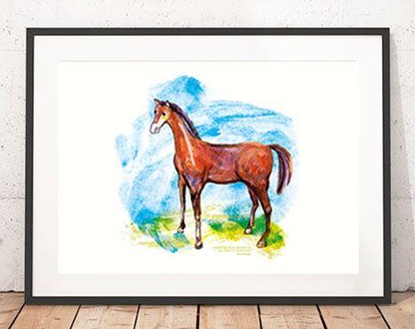 30x40 plakat z koniem, ilustracja dla dzieci źrebak,ładny plakat konik