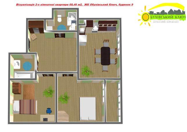 Гарна 2-кімнатна квартира в новому будинку ЖК Обухівський Ключ