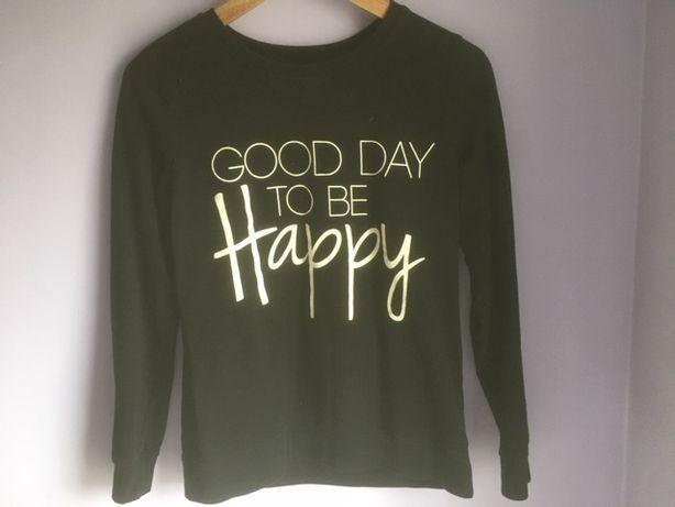 Bluzka damka, czarna Good Day to be happy/ rozmiar 36/ S