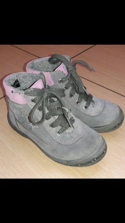 Оригинальные замшевые сапоги ботинки для девочки Richter 28р Ecco kami