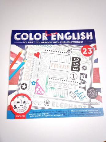 NOWA kolorowanka dla dzieci i młodzieży, nauka angielskiego