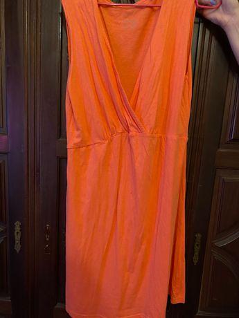 Vestido cor de laranja