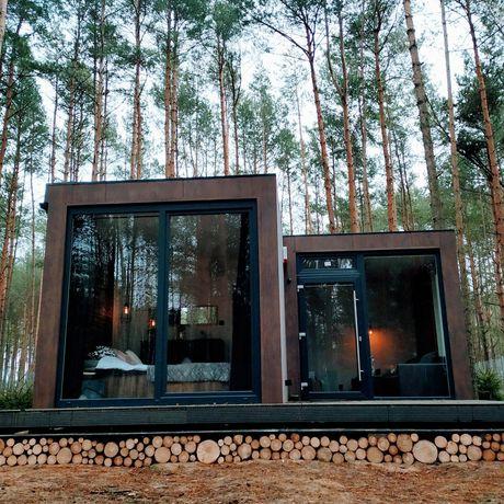 Domek do wynajęcia, SAUNA, dom w lesie, blisko Warszawy, Suntago