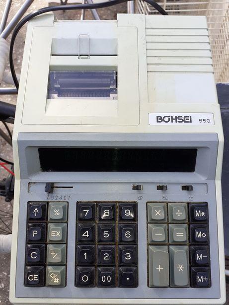 Calculadora vintage a funcionar