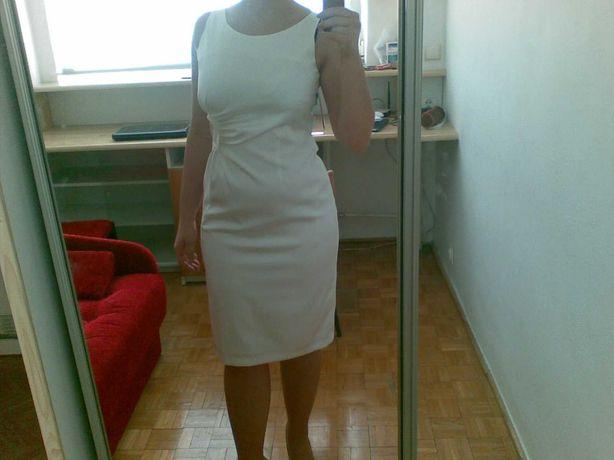 Elegancka kremowa sukienka na wesele przyjęcie 38