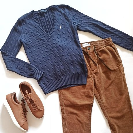 Ralph Lauren Sport мужской синий свитер бренд оригинал М