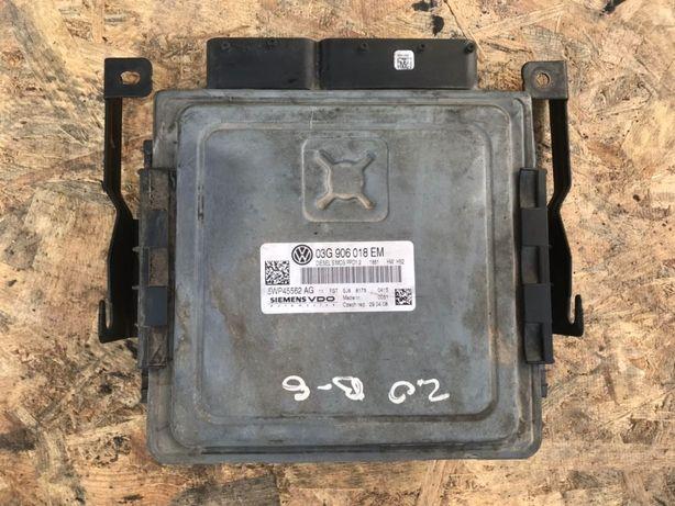 Блок управления ЭБУ 03G906018EM, 03G906018AS VW Passat B6 Пассат