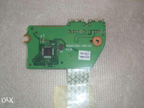 Toshiba l650 - fichas usb lado direito + leitor cartoes