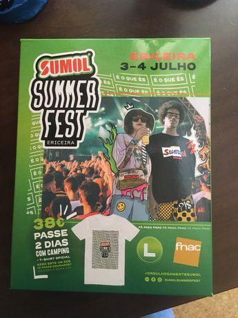 Pack/Bilhete Sumol Summer Fest