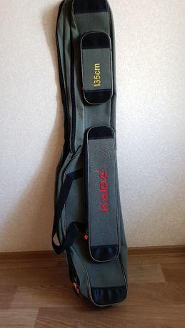 Чехол для удилищ под катушку Kaida 2 отделения 135 см