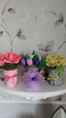 Квіти з цукерок