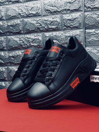 НОВИНКА! LEVI'S Кожаные кроссовки Левайс модные кроссовки 2021 Топ!!!