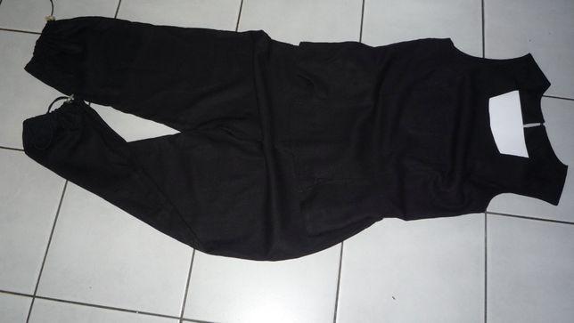 Komplet spodnie + bluzka z lnem.Rozmiar L