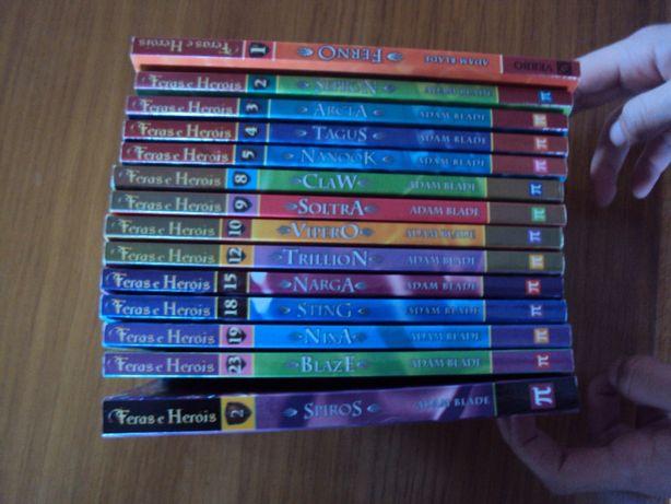 """Vendo Conjunto de Livros """"Feras e Heróis"""""""