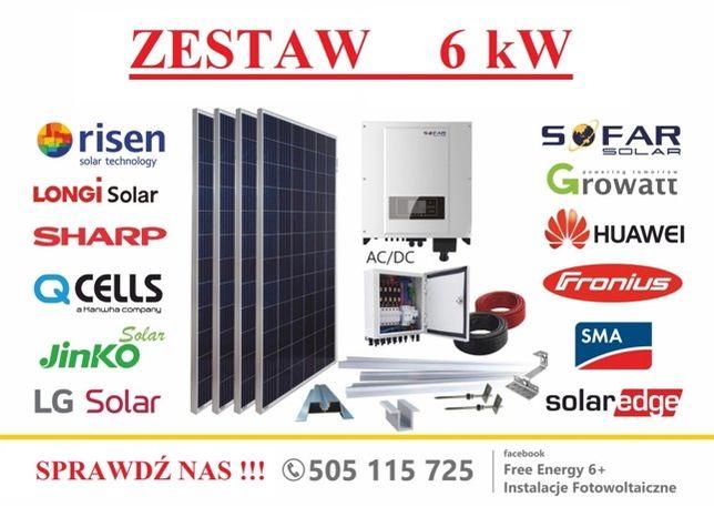 Fotowoltaika zestaw 6kW Sofar Solar, Longi