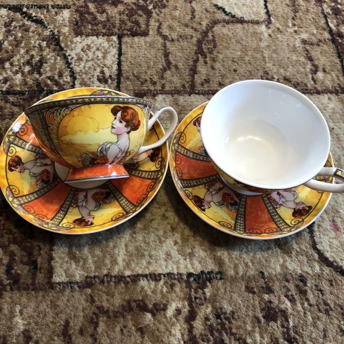 Чайний арт-сервіз Alfons Mucha Summer Ивано-Франковск - изображение 1