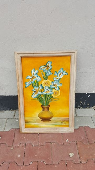 Obraz kwiaty w wazonie