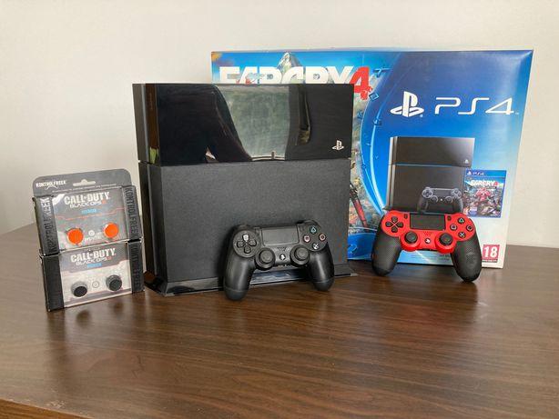 PS4 c/ 2 Comandos, Base & Acessórios (500GB)