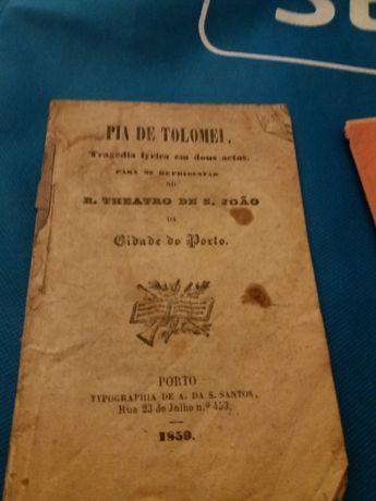 Programa de Teatro de s. Joao no Porto em 1850
