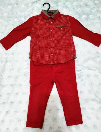 Elegancki zestaw koszula i spodnie rozmiar 80