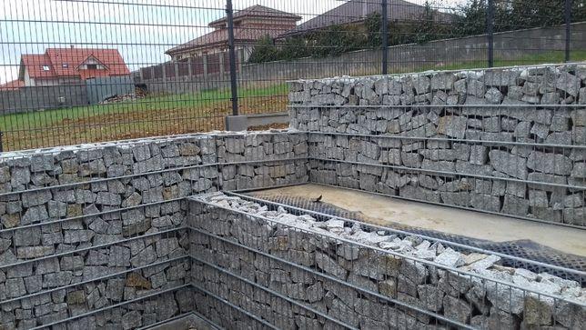 Mury oporowe,ogrodzenia gabionowe,bramy produkcja,montaż