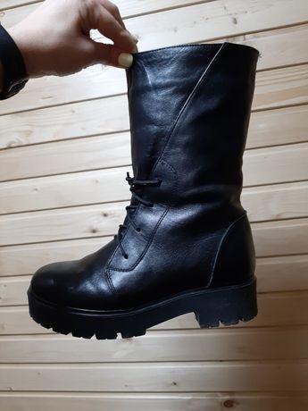 Сапожки ботинки кожа 37р