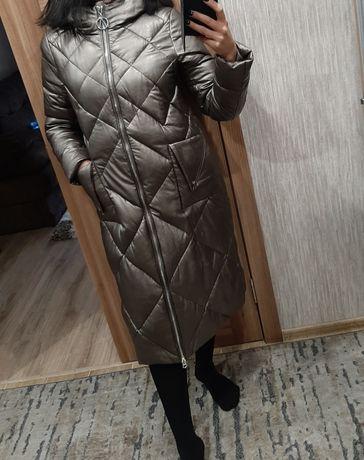 Пальто эко- кожа.