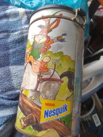 Lata vintage como nova Nestlé Nesquik 20x10cm