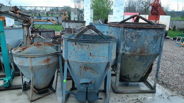 Zbiorniki kubly na beton bena