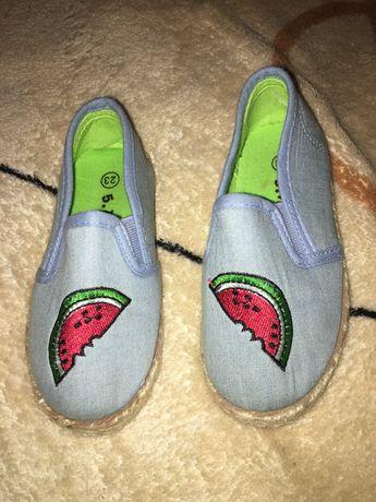 Espadryle buty buciki dziecięce rozmiar 23 arbuzy błękitne 5 10 15sprz