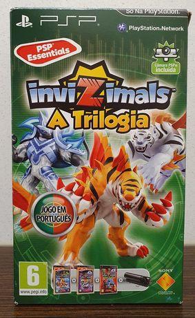 Jogo Invizimals A Trilogia 3 jogos + câmara