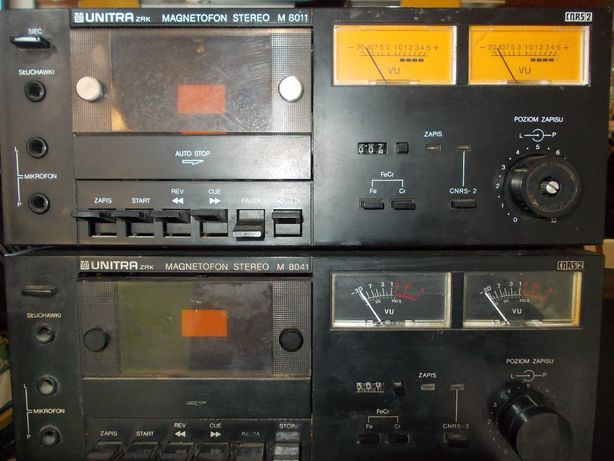 kolekcja magnetofon unitra m 8011 lub m 8041 zrk diora