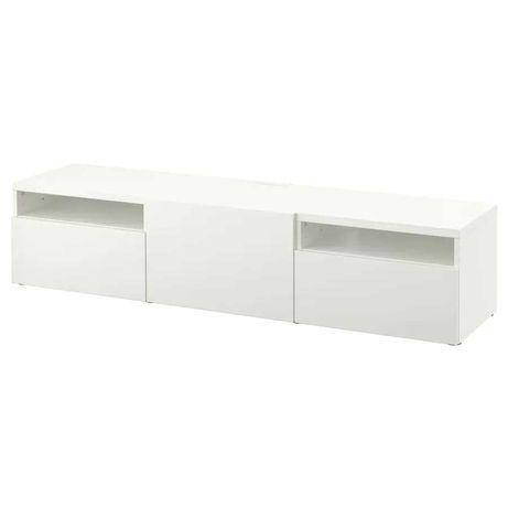 Móvel Tv Besta Ikea 180x42x39 cm branco