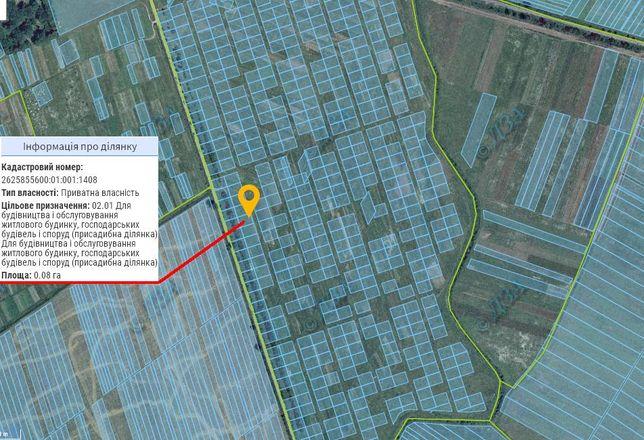 Продам дві або одну земельні ділянки ОЖБ в смт. Лисець за Лікарнею
