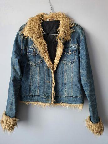 Kurtka jeansowa z futerkiem