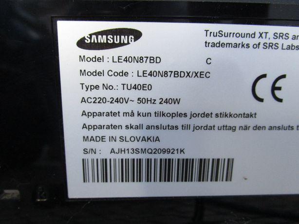 TV LCD SAMSUNG LE40N87 - Para peças
