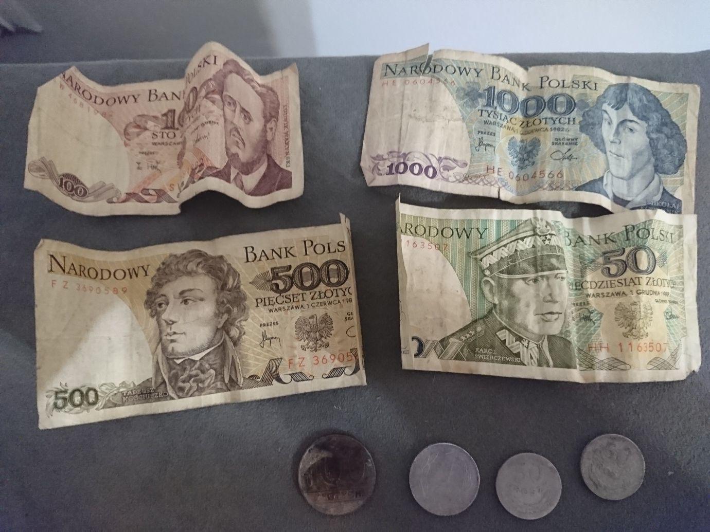 Banknoty PRL i monety