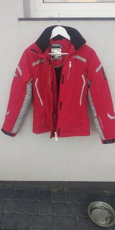Kurtka narciarska BRUGI czerwona S/36 RECCO