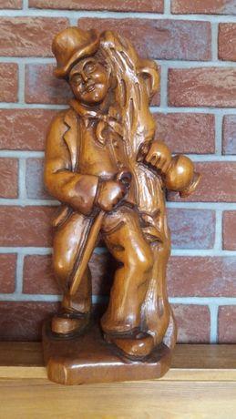 Rzeźba z drewna,Wędrowniczek,