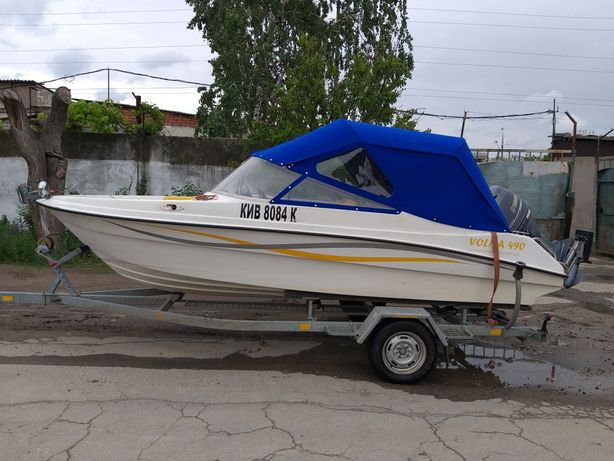 Лодка Волна 490 2013 г.в., мотор Yamaha 70+лафет все 2013 г.в.